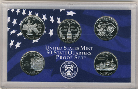 Proof State Quarters - Complete 50 state quarter set